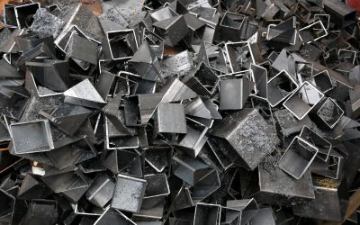 background of a pile of cut metal pieces