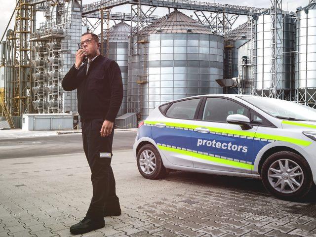 Werkschutz von protectors Sicherheitsdienst